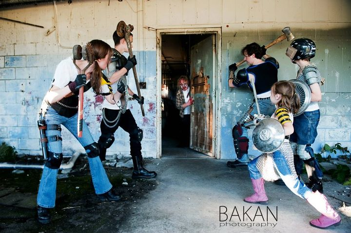 Zombie apocalypse family photos are the cutest thing you'll see all day