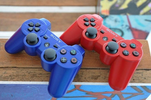 Red and Blue PS3 Controllers Hitting Next Month?
