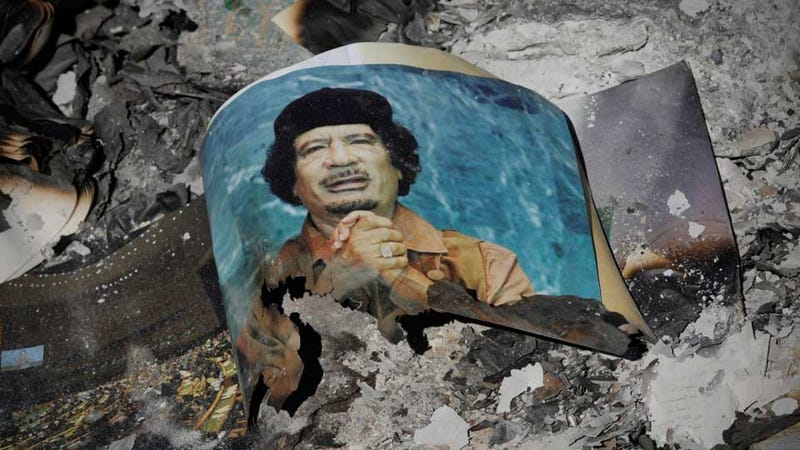 Holy Crap Qaddafi's Corpse Is Being Stored in a Freezer at a Mall