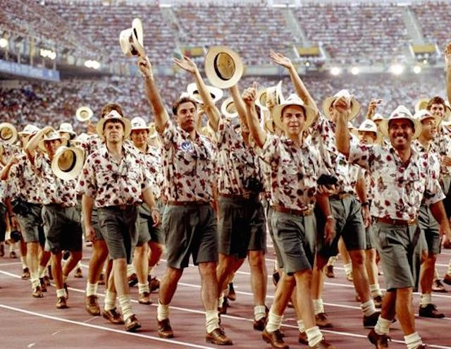 Look At What The Poor Scots Are Wearing To The Commonwealth Games