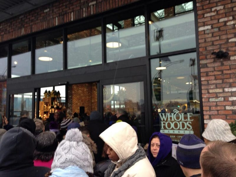 It's a Mob Scene at Brooklyn's Very First Whole Foods