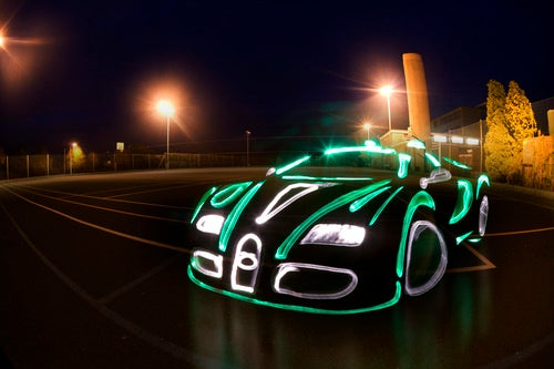 Light Graffiti Automobiles