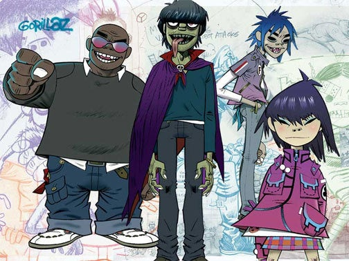 Gorillaz Trample Rock Band Next Week