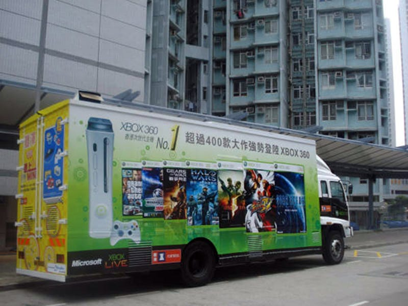 The Xbox 360 Truck Travels Through Hong Kong