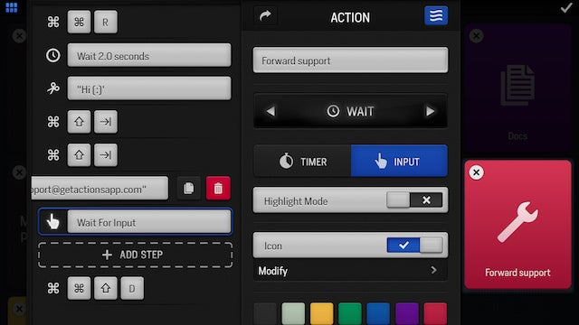 """Actions for iPad Adds """"Flows"""" for More Complex Keyboard Shortcuts"""