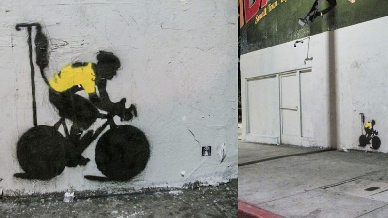 Lance Armstrong Street Art Is Simple, Accurate