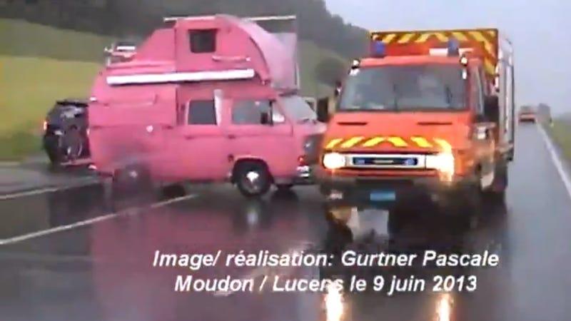 This Hot Pink VW Camper Van Is Blowing My Mind, Man