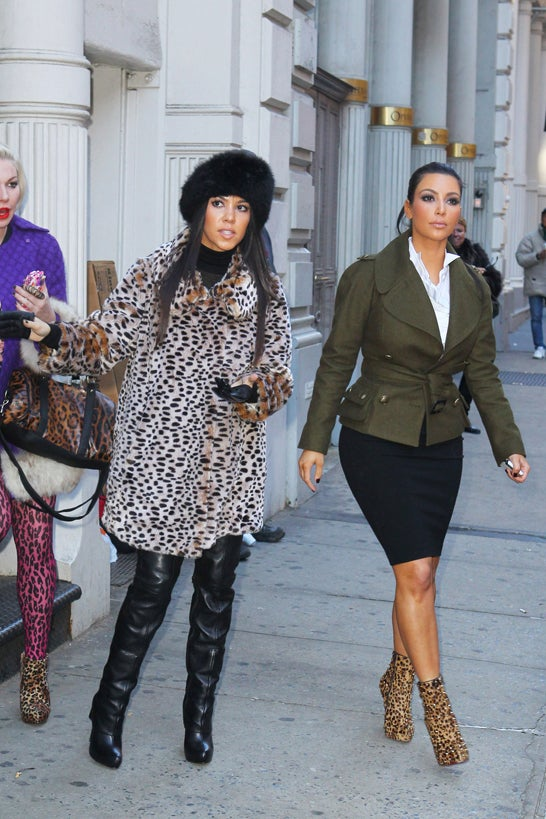 Kourtney, Kim & Friend Do A Spotty Job Of Celebrating Animal Print Day