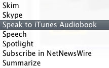 Convert Any Text to an iTunes-Compatible Audiobook