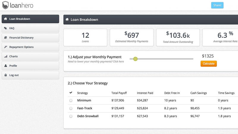 Student Loan Hero Organizes Your Massive Student Loan Debt and Helps You Pay It Off