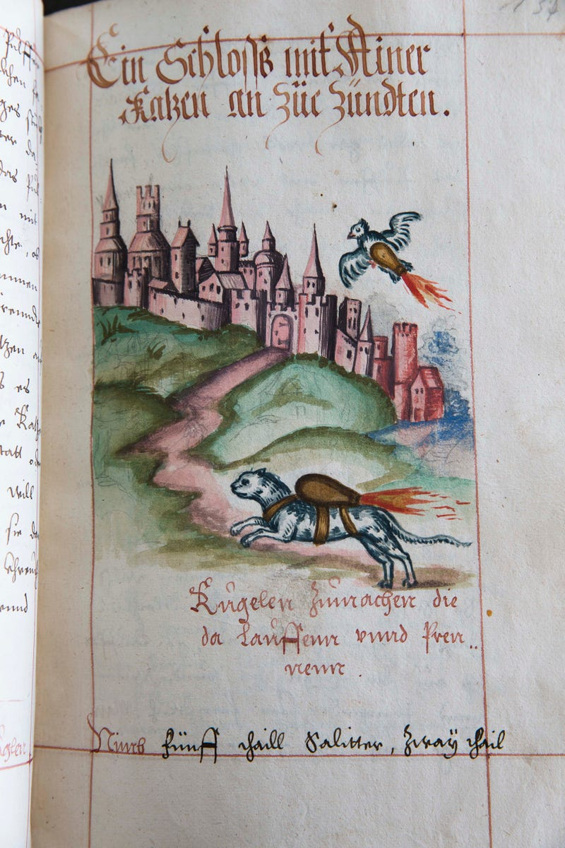 Peasant-Killing Potential Of Rocket Cats Shown In 16th Century Manual