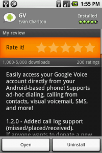 GV Integrates Google Voice into Android
