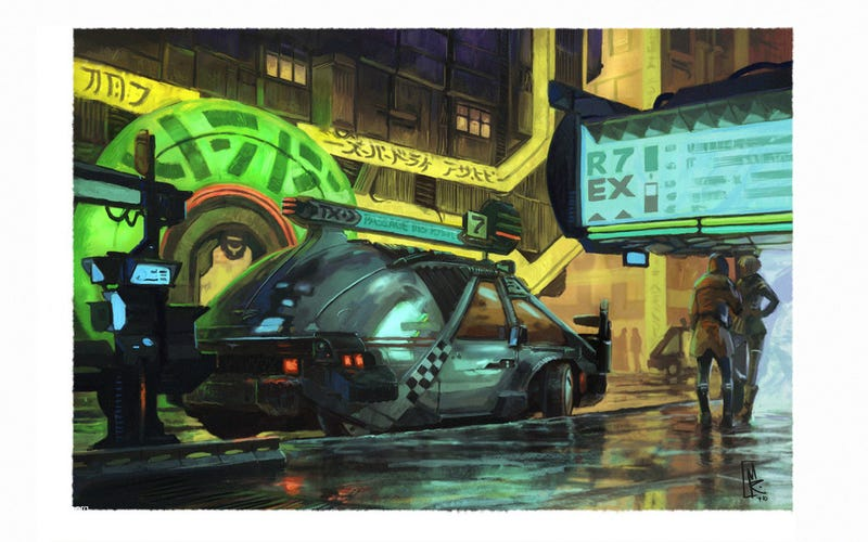 Futuristic cars inspired by Syd Mead's Blade Runner designs