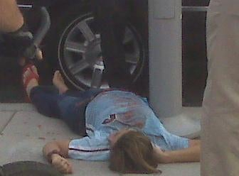 Never Underestimate The Sex Appeal Of A Phillies' Fan Sidewalk-Napping In Her Own Chunk