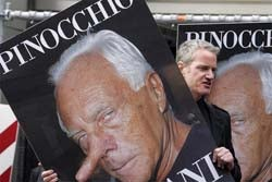 Pissed-Off PETA Gives Giorgio Armani A Pinocchio Nose