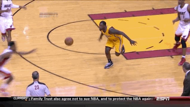Lance Smacks Norris Cole In The Face, Pacers Bench Reacts