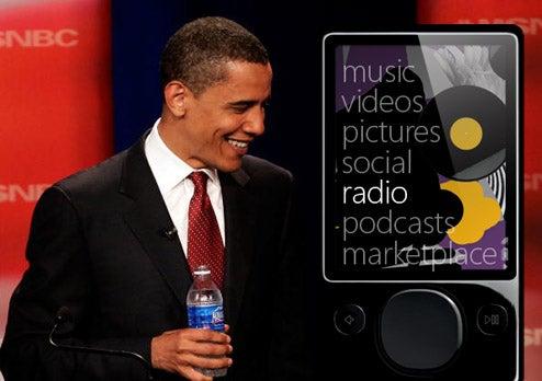 Barack Obama Uses a Zune