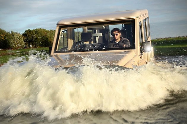 Toyota based Amphicruiser is awesome (and slow in water)
