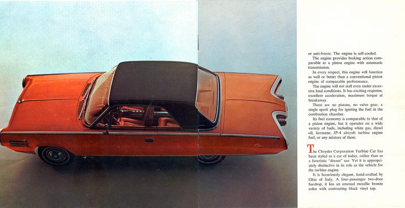 Chrysler Turbine Original Brochure