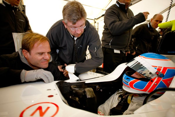 First Footage of Brawn GP Car Testing in Barcelona