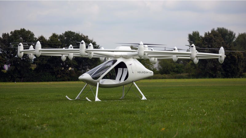 Some Germans Created A Crazy Plug-In Hybrid Volocopter