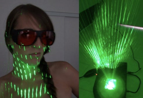 DIY Home Laser Show Reacts To Music, Probably Won't Incinerate Your Eyes
