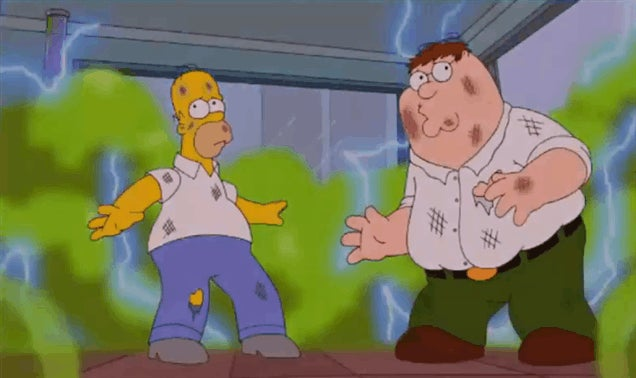 Things Get Weird In Five Minutes Of The Simpsons/Family Guy Crossover