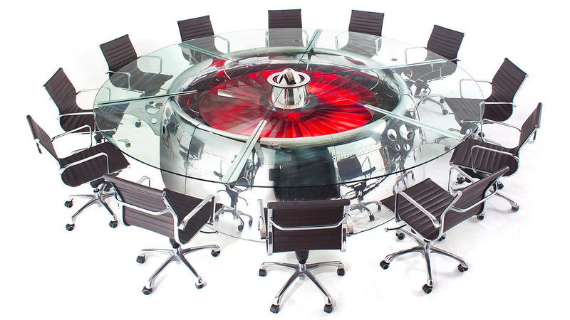 An Over-the-Top Conference Table Is the Perfect Use For Obsolete 747s