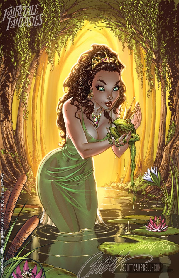 "A ton of Disney Princesses, drawn in the ""comic book style"""
