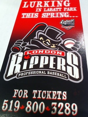 Jack The Ripper Spoiled The Unveiling Of Canada's Newest Baseball Team, The London Rippers