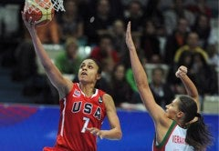 U.S. Women's Basketball Team Faces Off Against The Aussies