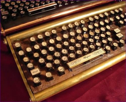 Datamancer at It Again with Steampunk-Inspired Luxury Keyboard