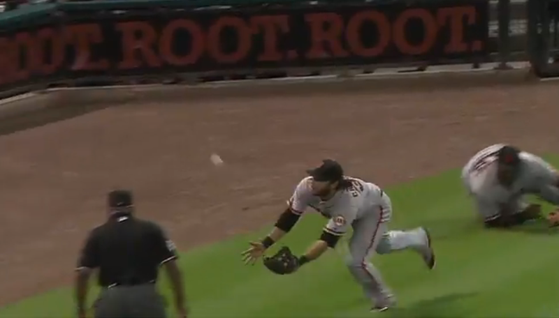 Brandon Crawford And Pablo Sandoval Team Up For The Year's Most Acrobatic Play