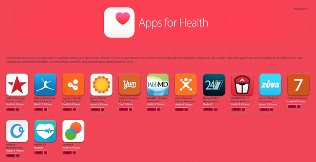 These 14 Handpicked HealthKit Apps Have Their Own iTunes Section