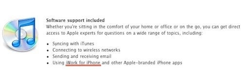Apple Site Leaks iWork For iPhone, Again