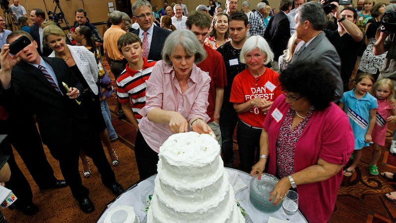 Supporters of Anti-Gay Marriage Amendment Prove They're Assholes With Incredibly Tacky Victory Party