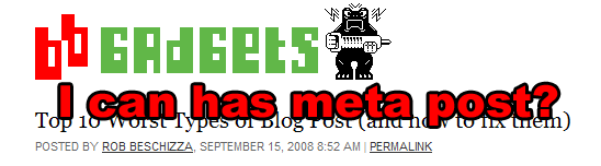 Boing Boing Gadgets Calls Us All Out on Lazy Blogging, I Blockquote a Bunch of It and Add Some Snarky Comments
