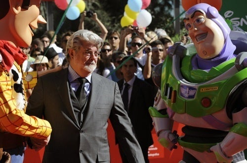 Even Buzz Lightyear Gives George Lucas Crap About Jar Jar Binks