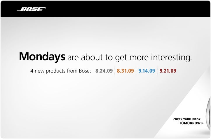 Bose Teasing Four Mystery Products Over Next Five Weeks