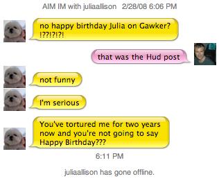 Happy Birthday, Julia Allison!