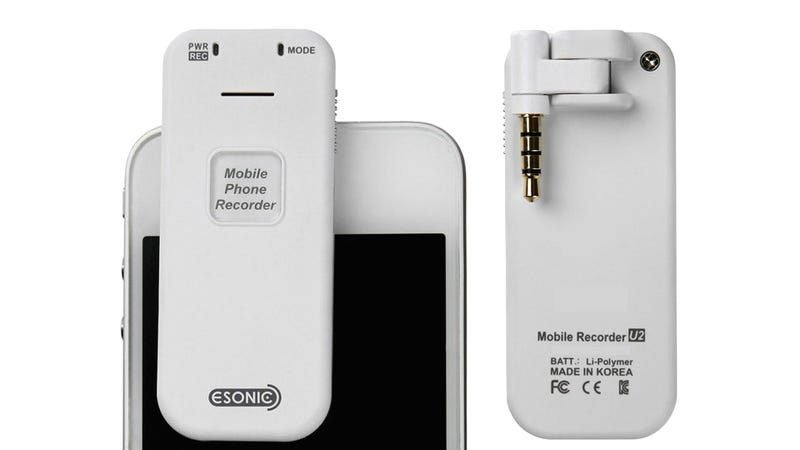 Clip-On Recorder Simplifies Everything But the Legality Of Recording a Phone Call