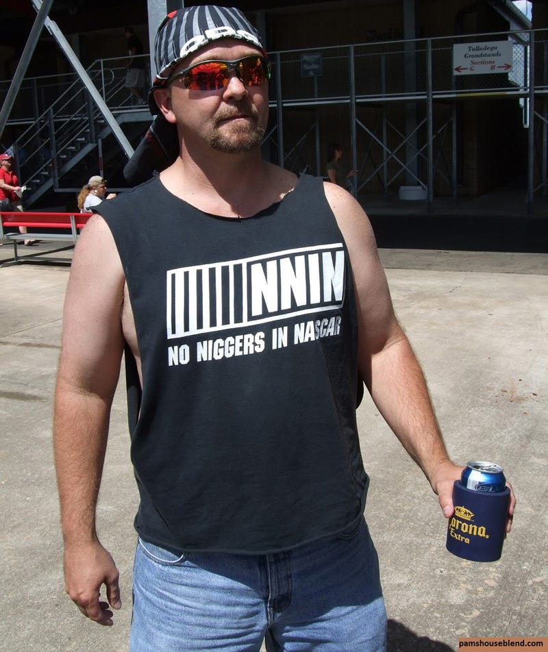 Talladega Race Fan Sports Racist NASCAR T-shirt
