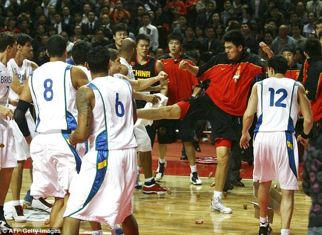 Chinese National Basketball Team Karate-Kicks Brazil Off Court In International Friendly