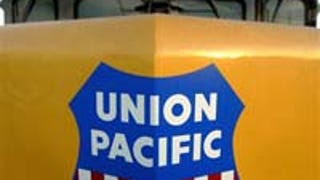 Union Pacific Rail Hops On Green Train Like Some Treehugging Hobo