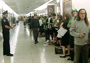 Lobbyists Having Homeless Guys Wait Out Lines For Them On Capital Hill