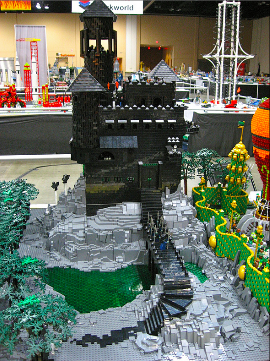 Huge Lego Wizard of Oz Build Includes a Motorized Tornado