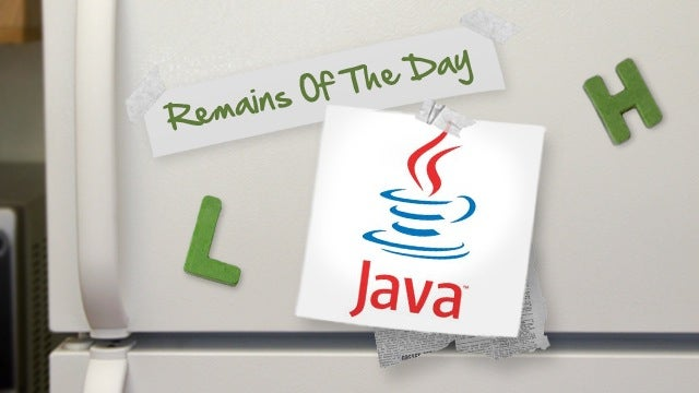 Remains of the Day: New Java Update Blocks Recent Malware Attacks