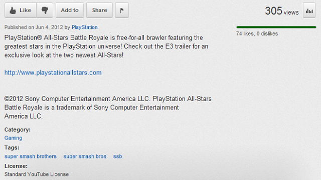 Why Does PlayStation All-Stars Battle Royale's YouTube Page Have A Tag For Super Smash Bros.?