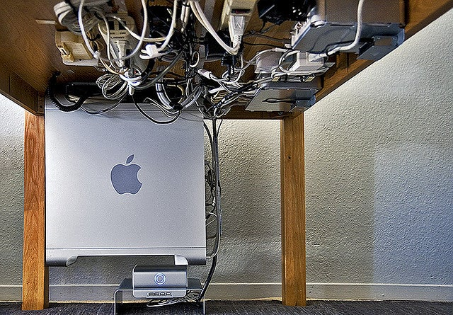The Brilliant Cord-Wrangling Workstation for Two