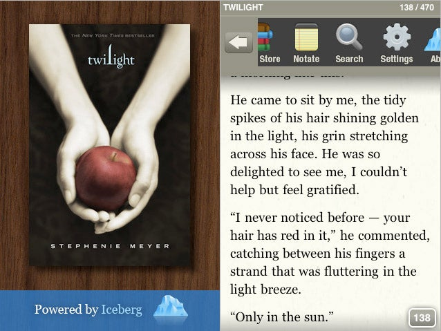 Now You Can Read Twilight, Golden Compass On Your iPhone